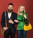 Feeling free and happy. Autumn fashion trends. Couple in love in fashionable style. Fashion couple of woman and stock photos