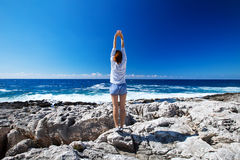 The feeling of freedom on the Mediterranean coast Stock Photos