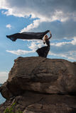 Feeling of freedom in the wind Royalty Free Stock Photos