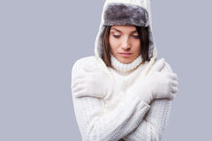 Feeling frosty. Royalty Free Stock Photo