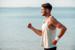 Feeling good and keeping fit. Stock Images