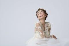 Feeling goog as bride Royalty Free Stock Photos