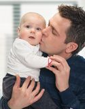 Feeling happy with baby Royalty Free Stock Photos