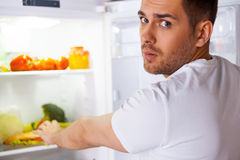 Feeling so hungry. Stock Image
