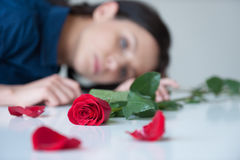 Feeling lonely. Royalty Free Stock Photography