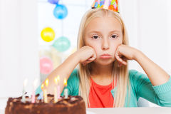 Feeling lonely at her party. Stock Photography