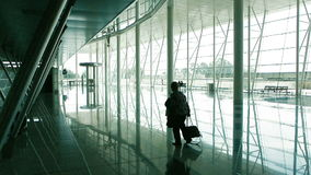 Feeling lost in airport stock footage