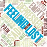 Feeling Lost Word Cloud Royalty Free Stock Images