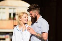Feeling love and romance. Bearded man hug girl. Sensual woman and man enjoy romantic date. Couple in love. Loving. Feeling love and romance. Bearded men hug girl royalty free stock photos