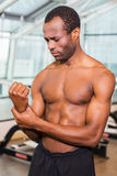 Feeling pain after workout. Royalty Free Stock Photo