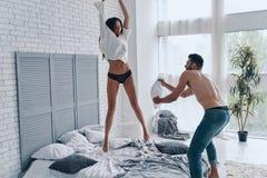Feeling playful together. stock image