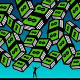 Feeling rich vector illustration