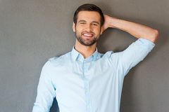 Feeling satisfied and relaxed. Royalty Free Stock Photos