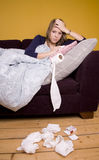 Feeling Sick. Off work with cold or flu Royalty Free Stock Image
