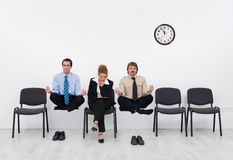 Feeling a slight handicap - people waiting for the job interview Stock Photo