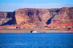 Feeling Small on Lake Powell Stock Images