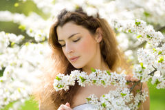 Feeling the sping royalty free stock photo