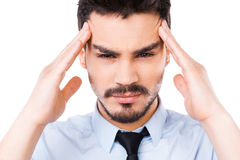 Feeling stressed. Stock Images