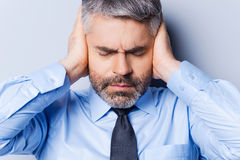Feeling stressed and overworked. Royalty Free Stock Images