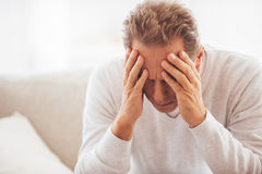 Feeling tired and depressed. Royalty Free Stock Photography