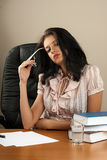 Feeling tired and stressed. Frustrated young woman Royalty Free Stock Images