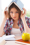 Feeling tired of studying. Stock Image