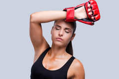 Feeling tired after training. Stock Images