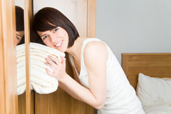 Feeling towels Stock Photos