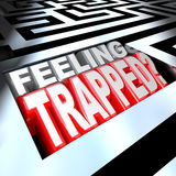 Feeling Trapped Maze Labyrinth Confused by Puzzle Royalty Free Stock Photography
