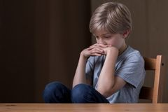 Feeling very lonely Stock Images