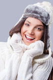 Feeling warm and happy. Stock Photography