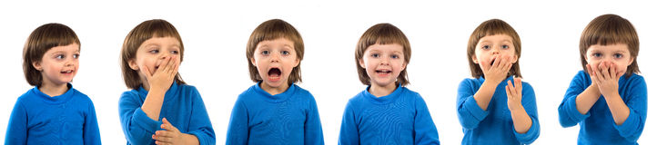 Feelings of child Stock Photography