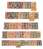 Feelings and emothions Stock Photography