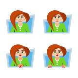 Feelings and emotions women. The feelings and emotions of the modern woman Royalty Free Stock Image