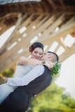 Feelings wedding kiss Royalty Free Stock Photos
