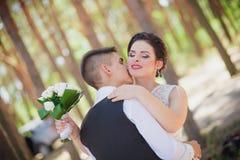 Feelings wedding kiss Royalty Free Stock Photography