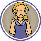 Feelings Woman Cry and sad. Sad woman and crying with tears and their arms back Royalty Free Stock Photography