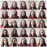 Feelings of a woman stock photos
