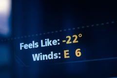 Feels like weather forecast Stock Photography
