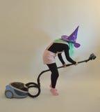Feemeisje - gnoom, proef, goede fee, heks voor Halloween Stock Fotografie