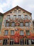 Feemuurschildering het schilderen, Luzerne, Zwitserland Royalty-vrije Stock Afbeelding