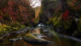 Feenauwe vallei in Noord-Wales, het Verenigd Koninkrijk stock afbeeldingen