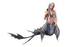 feenhafte Endstück-Meerjungfrau der Wiedergabe-3D auf Weiß Stockbild