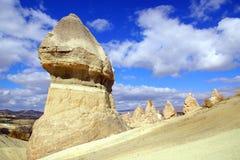 Feenhafte Kamine in Cappadocia, die Türkei Stockbilder