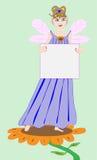 Feenhafte Prinzessin Holding ein unbelegtes Zeichen Stockfotos