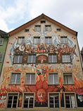 Feenhafte Wandmalerei, Luzerne, die Schweiz Lizenzfreies Stockbild