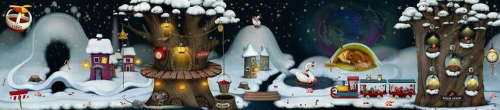 Feenhafte Winternacht Stockfoto