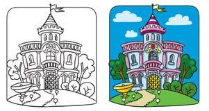 Feenhafter Palast Bunte grafische Abbildung lizenzfreie abbildung