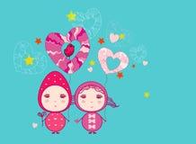 Feenhafter Valentinsgruß Stockbilder