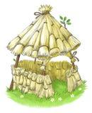 Feenhaftes Haus Märchen mit drei von den kleinen Schweinen Stockfoto